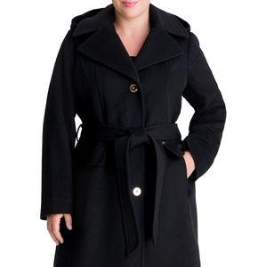 Micheal Kors Hooded Wool Coat